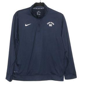 Nike Boys XL Dri Fit 1/4 Zip Sweatshirt Coastguard